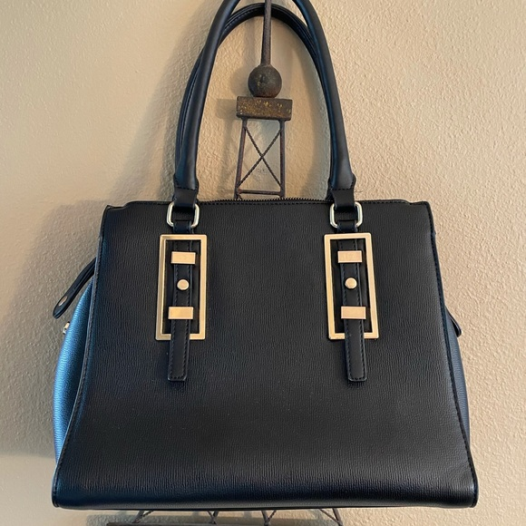 NWOT Charming Charlie's black and gold purse